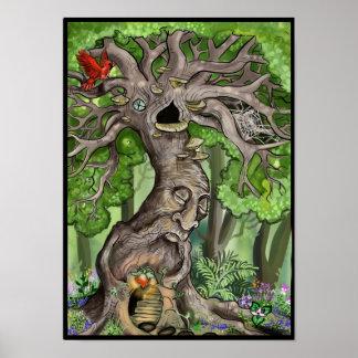 Hogar de hadas del árbol póster