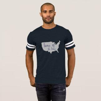 Hogar de la América valiente 4ta de la camisa de