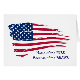 Hogar de la bandera ondulada libre tarjeta de felicitación
