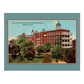Hogar de la iglesia, enfermería, N. Broadway, MD Postales