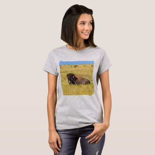 Hogar del búfalo en la gama camiseta