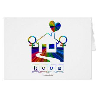 Hogar del Casa-Gay del arco iris Amor-Nuevo Felicitación
