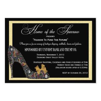 Hogar del desfile de moda del gorrión reducido invitación 12,7 x 17,8 cm