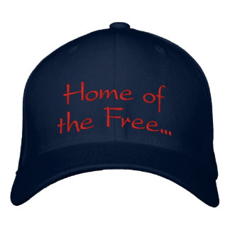 Hogar del libre debido al gorra valiente gorra de beisbol