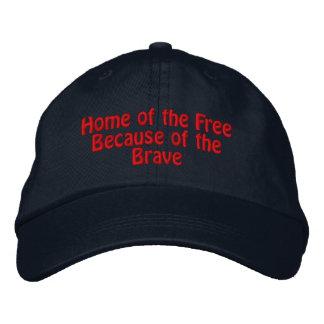 Hogar del libre debido al valiente gorra bordada