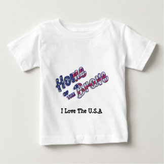 Hogar del valiente en colores americanos camiseta de bebé