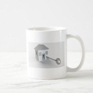 Hogar dominante, agente inmobiliario, agente taza de café