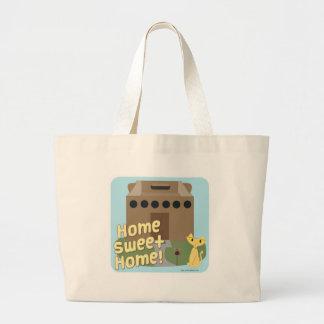 Hogar dulce casero bolsa tela grande