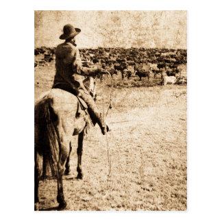 Hogar en el ranchero solitario del vaquero del postal
