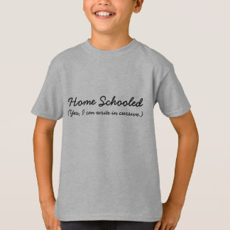 Hogar enseñado - sí, puedo escribir en Cursive Camiseta