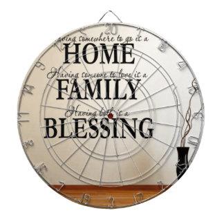 Hogar + Familia = bendición Tabla Dardos