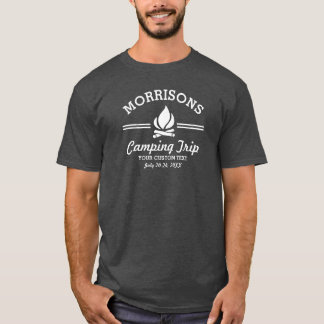 Hoguera retra de la acampada de la reunión de camiseta