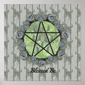 Hoja BG del verde del pentáculo de Elvenwood. Arte