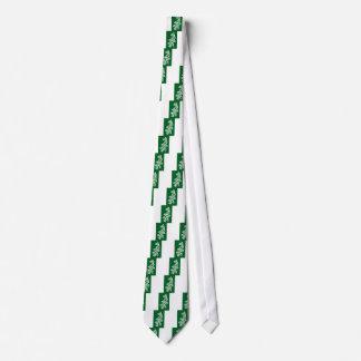Hoja blanca del roble de Knotwork en verde Corbatas Personalizadas