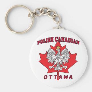 Hoja canadiense polaca de Ottawa Llavero Redondo Tipo Chapa
