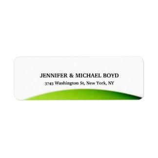 Hoja clásica de la familia del estilo retro verde etiqueta de remite
