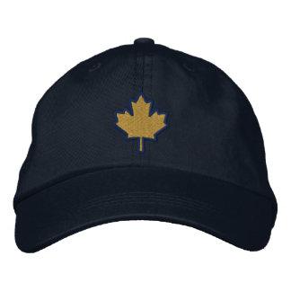 Hoja de arce bordada bordado canadiense gorras de beisbol bordadas