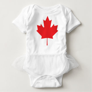 Hoja de arce canadiense body para bebé