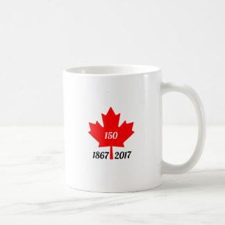 Hoja de arce de Canadá 150 en 2017 Taza De Café