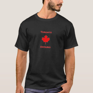 Hoja de arce de Toronto Ontario Camiseta