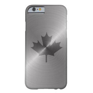 Hoja de arce del platino de Canadá Funda De iPhone 6 Barely There