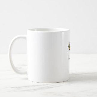 Hoja de la abeja en sí mismo taza