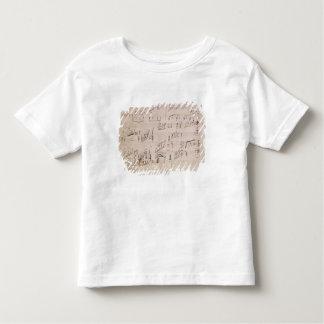 Hoja de la cuenta del 'claro de luna Sonata Camiseta De Bebé