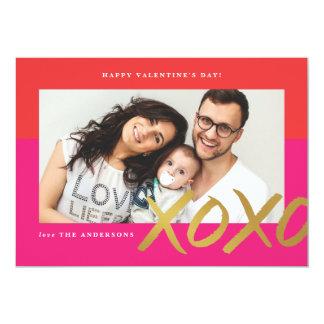 Hoja de la tarjeta del el día de San Valentín de Invitación 12,7 X 17,8 Cm