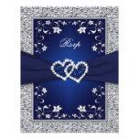 Hoja de los corazones florales de plata de la comunicado personalizado
