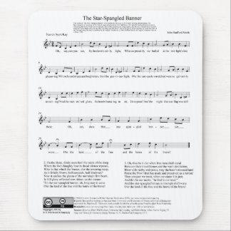 Hoja de música del himno nacional del himno americ alfombrilla de ratón