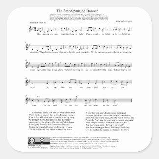 Hoja de música del himno nacional del himno colcomanias cuadradass