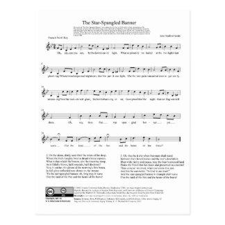 Hoja de música del himno nacional del himno postal