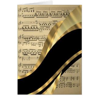 Hoja de música elegante tarjeta pequeña