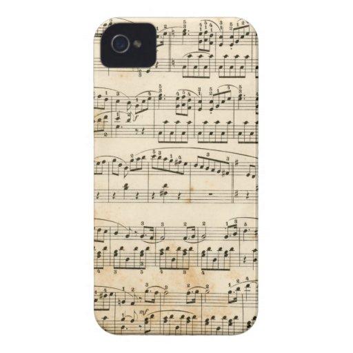 Hoja de música iPhone 4 Case-Mate funda