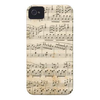 Hoja de música iPhone 4 fundas