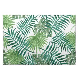 Hoja de palma botánica tropical de la planta salvamanteles