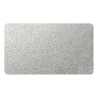 Hoja de plata impresa tarjetas de visita