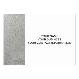 Hoja de plata impresa tarjetas de visita grandes