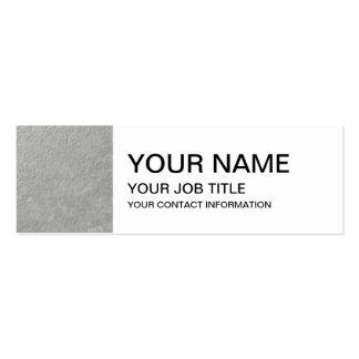 Hoja de plata impresa tarjetas de visita mini