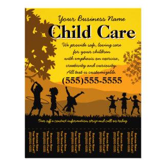 Hoja de rasgón del cuidado de niños del cuidado de folleto 21,6 x 28 cm