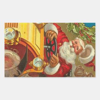 Hoja de Santa del vintage de 4 pegatinas del mate Pegatina Rectangular