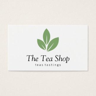 Hoja de té tarjeta de negocios