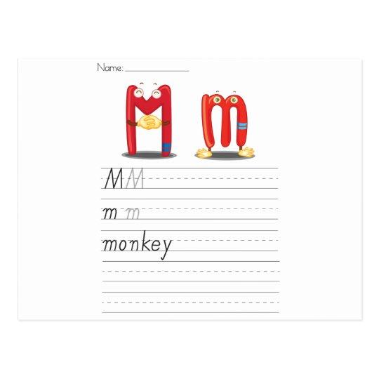 Hoja del alfabeto postal