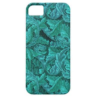Hoja del azul de William Morris iPhone 5 Case-Mate Coberturas