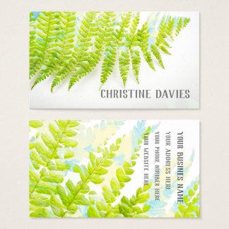 Hoja del helecho, planta exótica, tarjeta de