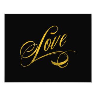 Hoja del oro de la cita del amor la falsa cita el fotos