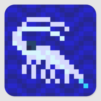 Hoja del pegatina de la gamba del arte del pixel