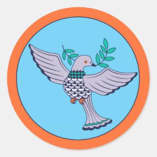 Hoja del pegatina de la paloma (6)