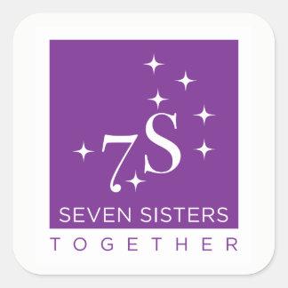 Hoja del pegatina de siete hermanas junto - 6