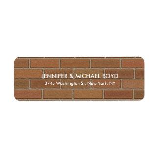 Hoja elegante moderna única de la pared de Brown Etiqueta De Remitente